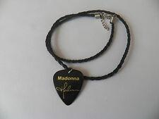 """Madonna della chitarra di prelievo Signature oro timbrato in Pelle Treccia Twist Collana 18"""""""