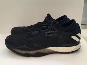 f83f22c62fb Adidas Crazy Light Boost Low Top Basketball Shoes BW0488 Navy Blue ...
