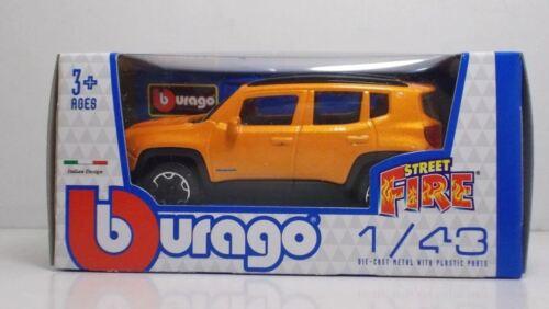 "Bburago 30000 Jeep Renegade /""Orange/""  METAL Scala 1:43"