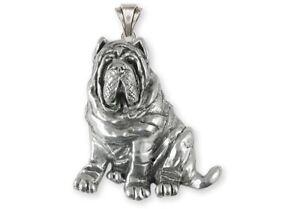 Details about Neapolitan Mastiff Jewelry Sterling Silver Handmade  Neapolitan Mastiff Pendant N