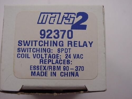 Mars 92370 Switching Relay Replaces Essex//RBM 90-370  Ships Same Day of Purchase