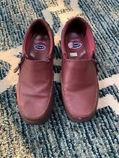 Dr. Scholl's Advanced Comfort Burgundy Leather Zip-up Loafers for Women Size 6 W