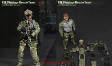 1//6 Scale FBI Hostage Rescue Team Field Operation Version Multicam Helmet Set