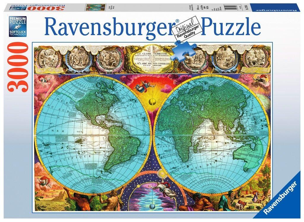 RAVENSBURGER RAVENSBURGER RAVENSBURGER 17074 MAPA ANTIGUO PUZZLE DE 3000 PIEZAS Antique World Map Jigsaw 879a84