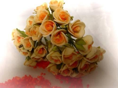 48 roses mini mariage baptême communion décoration de table