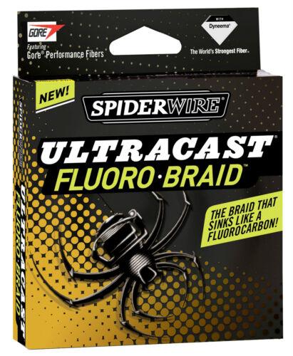 SPIDERWIRE ULTRACAST FLUORO BRAID 125yd OR 300yd SPOOLS