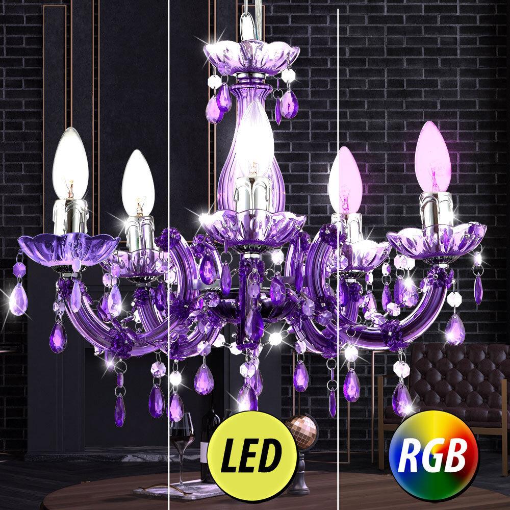 Rgb LED Lámpara Colgante Lámpara de Comedor Lámpara De Techo De Péndulo Lustre Dimmer