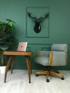 Danish Vintage Retro Unique Office Desk Grey Chair Armchair Ebay