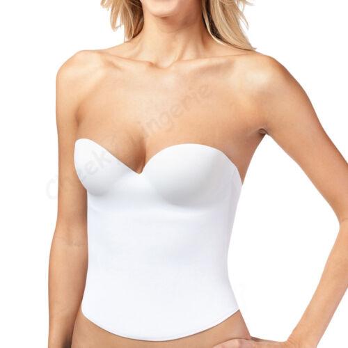 B C D Plus Tailles dossier bas mariage push up Bridal Seamless Bustier corset blanc