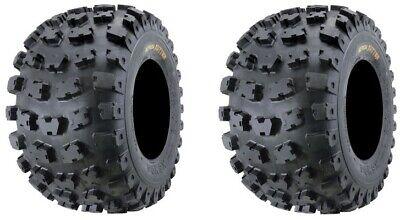 2 22X7-10 Kenda Kutter XC 6 PLY Front ATV Tires NEW Rubber 4 Wheeler