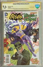 Signed Batman '66 Meets The Green Hornet #1 Adam West Burt Ward CBCS CGC 9.6