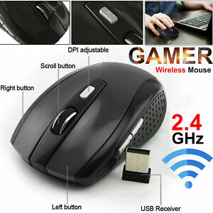 2-4GHz-Wireless-Cordless-Mice-Optical-Mouse-PC-Computer-Laptop-w-USB-Receiver