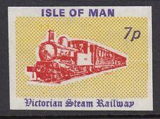 IOM VICTORIAN STEAM RAILWAY : 1971 7p red,yellow & purple-sans serif value