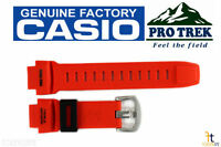 Casio Pathfinder Prw-3500y-4 Original Orange Rubber Watch Band Strap