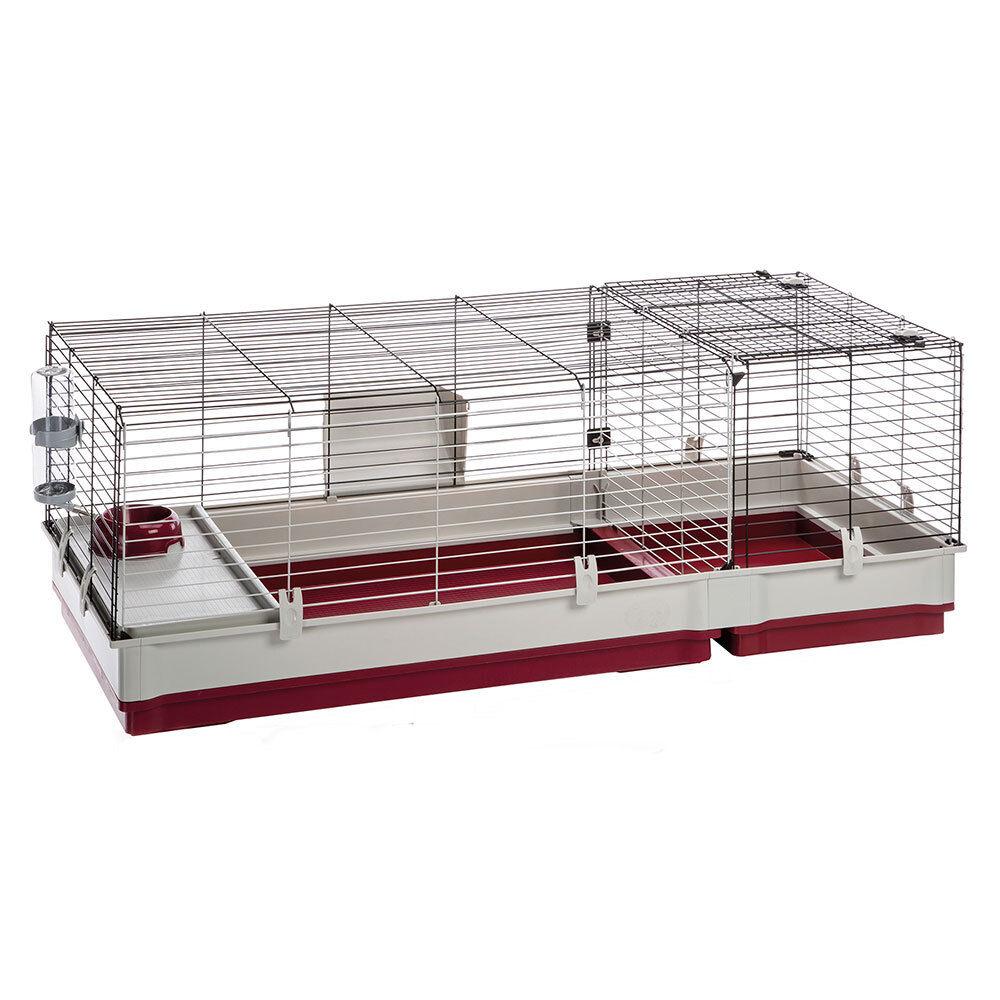 Conigliera gabbia conigli Ferplast Krolik 140 estensione removibile accessoriata