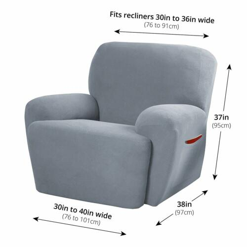 Soft Stretch Fit Recliner Slipcovers Spandex Non Slip Chair Protectors 6 Colors