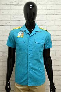 Camicia-Uomo-DIESEL-Taglia-Size-S-Maglia-Chemise-Shirt-Man-Cotone-Manica-Corta
