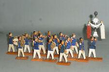 Alte Clauss Holz Soldaten Musiker 15 marschierende Preussen 8cm Serie