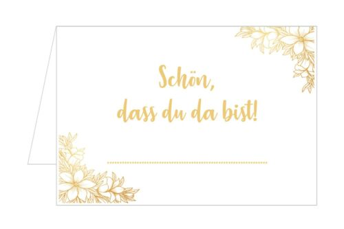 20071 50 Tischkarten Platzkarten Namenskarten Hochzeit Geburtstag Konfirmation