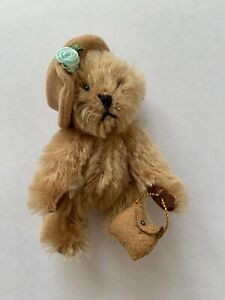 Vintage-Mohair-Artists-Fully-Jointed-Grandma-Mini-Bear-4-Inches-Fast-amp-Free-Post