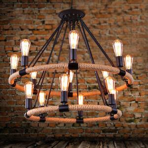 Details about Rope Chandelier Pendant Light Restoration Hardware Lighting  Lamp Ceiling Fixture