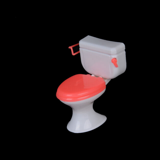 Hot 1pcs Doll Accessories Plastic Toilet Doll Toys Bathroom Home Furniture HU