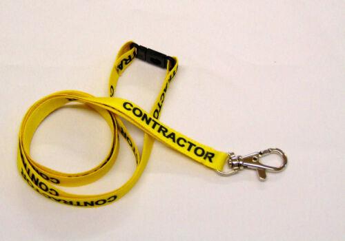 Con Correa cordón para cuello disidente de seguridad. Amarillo//Negro El contratista Cordón