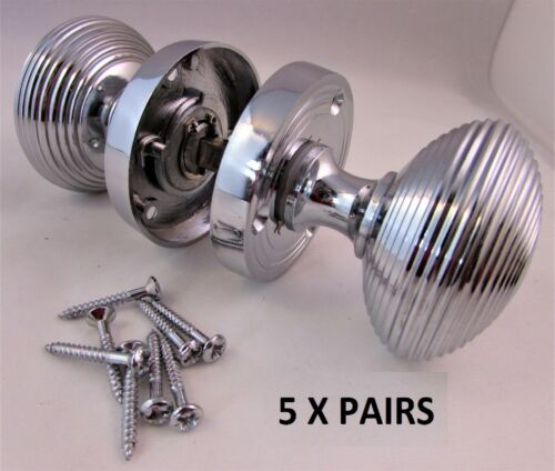 Modern Cutting Edge Chrome Silver Mortice Interior Door Knobs Door Handles D19