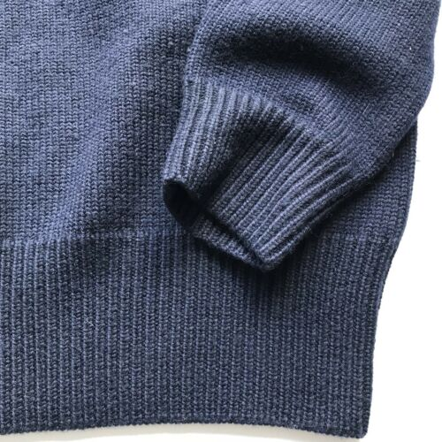 Lauren Knitted Jumper L Size Ralph Polo Blue Man Wool Navy waHxg1R