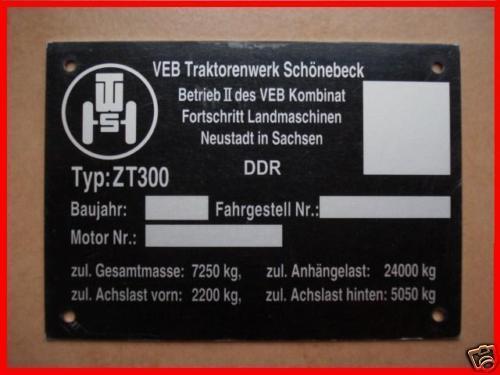 ZT 300 progreso prestigio merece la pena placa de identificación