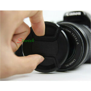 62mm Lens Cap Front Cover Protector Snap On Center Pinch for ...
