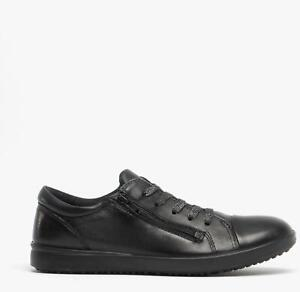 ECCO ELLI Girls Stylish High Quality Lace Up Casual Leather School Shoes Black