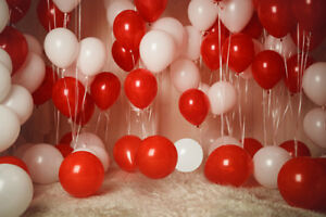 Details About 12 Red White Pearl Latex Balloons Wedding Birthday Christmas Xmas Party Theme