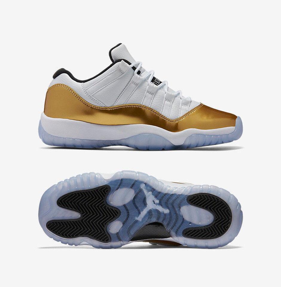 Nike Air Jordan Ceremony 11 XI Low Retro gold White Olympic 528895 103 Men & GS