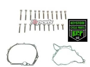 Kawasaki KLX110 L DRZ 110 Stator /& Clutch Cover Gasket Kit Set TB Parts TBW0360