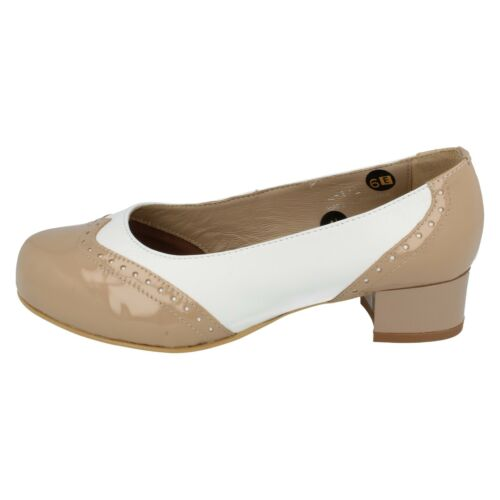 Leather Slip On Da Bella By Easy B Court Shoes; Jules Ladies Patent leather