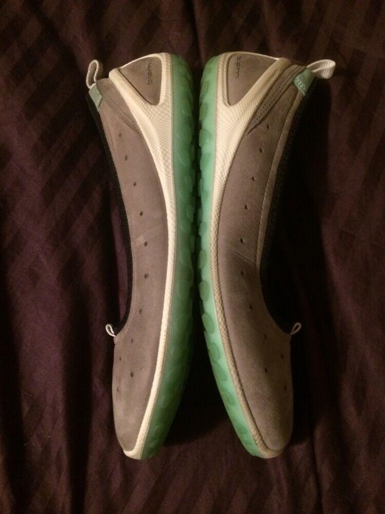 ECCO 39 Biom Ballet Light Gray Nubuck Leder Sport Schuhes 39 ECCO / 8-8.5 No Insoles 567780