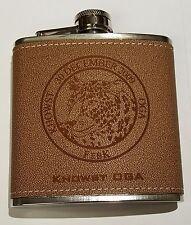 CIA Khowst OGA 30 December 2009 FebK Leopard Afghanistan Brown Leather Flask