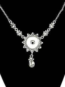 Rhinestone pendant necklace fits 1820mm gingersnap interchangeable image is loading rhinestone pendant necklace fits 18 20mm gingersnap interchangeable aloadofball Image collections