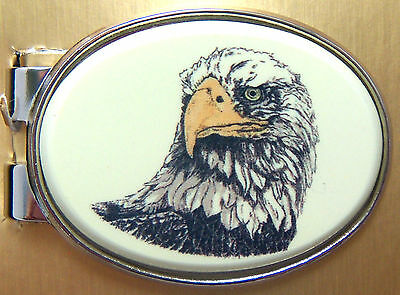 Money Clip Oval Barlow Photo Reproduction in Color Eagle America Forever 539z82