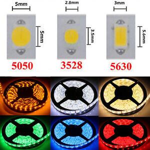 DC12V-Super-Bright-5M-SMD-3528-5050-5630-LED-Strip-Lights-300Leds-IP33-IP65