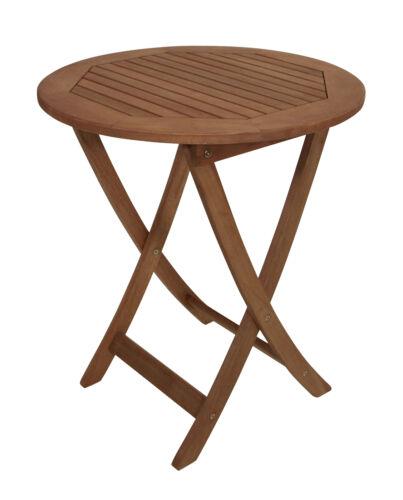 Gartentisch Klapptisch Bistrotisch Gartenmöbel Tisch RIO 65cm rund Holz WAHL 2
