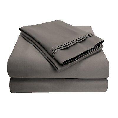 Zuversichtlich Luxor Style 100% Ägyptische Baumwolle 800tc Flache Platte ~ King Cal ~ Grau Feines Handwerk Bettwäsche