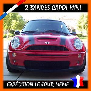 2 Bandes Capot adhesives pour Mini Cooper Autocollant Sticker
