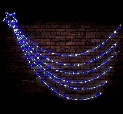 200 LED WATERFALL STAR LIGHT CHRISTMAS GIFT XMAS SUPER BRIGHT MULTI XM0179