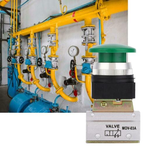 Pneumatik Ventil Drucktaster Druckschalter Knopf 3 Wege 2 Stellungen G1//8inch ♡