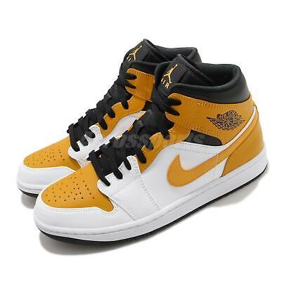 Nike Air Jordan 1 Mid University Gold White Black Men Casual Shoe AJ1 554724-170 | eBay
