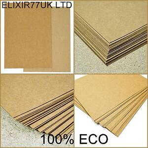A4 a5 brown kraft card blanks stock natural paper recycled for Craft paper card stock