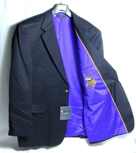 Minnesota Vikings Team Blazer Licensed Logo Sport Coat Short Regular Tall