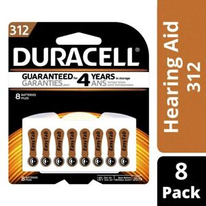 Duracell Hearing Aid S312 Batteries 8 pack